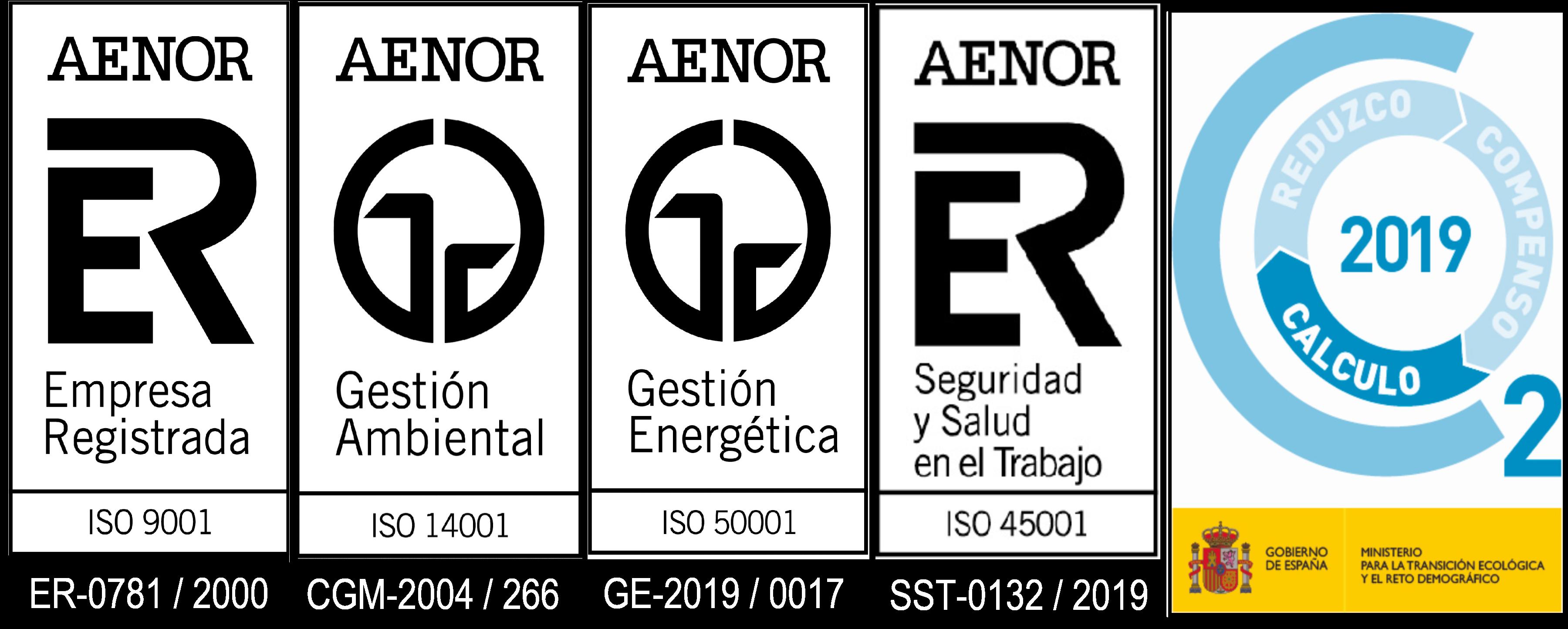 logos certificaciones urbalux